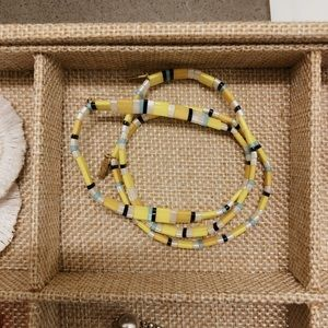 "Anthropologie ""Lissie"" Stretch Bracelet in Yellow"